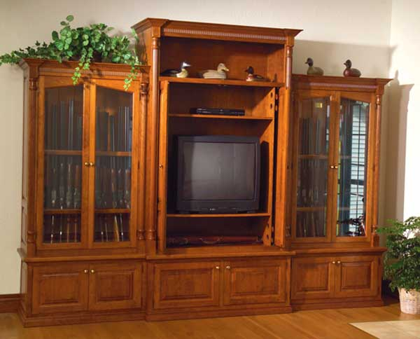 Each Of Our Gun Cabinets Can Be Customized To Include Entertainment  Centers, Bookshelves, And Desk Configurations.