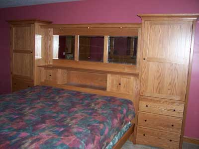 Custom amish made furniture beds illinois amish country for Custom made bedroom furniture