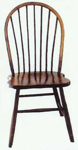 Custom Amish Made Furniture Bow Back Chairs Illinois Amish Country