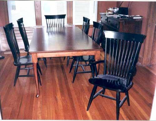 Amish Made Two Tone Farmhouse Table