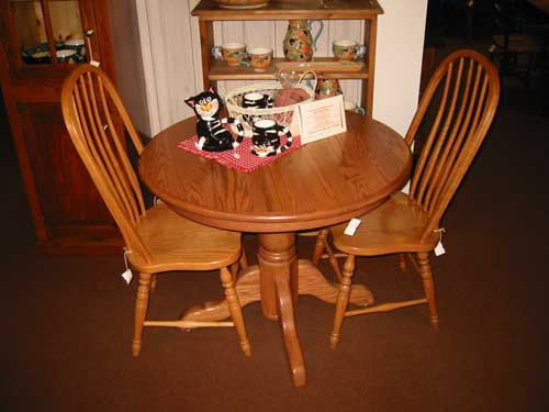 ... Amish Made Oak Round Table
