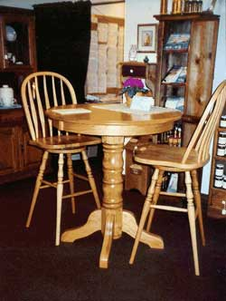 Amish Custom Made 36 Inch High Oak Pub Table Images Frompo