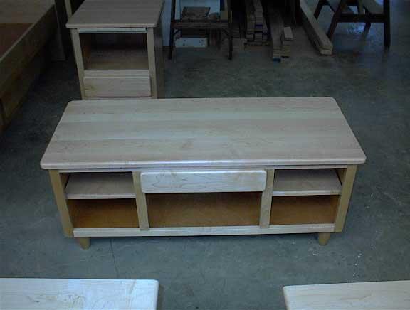 Locally Amish Custom Made Natural Oak Cofffee Table