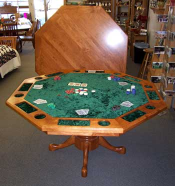 Locally Amish Custom Made Cherry Poker Table