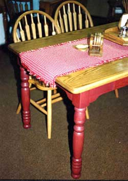 Amish Made Red Painted Farmhosue Table